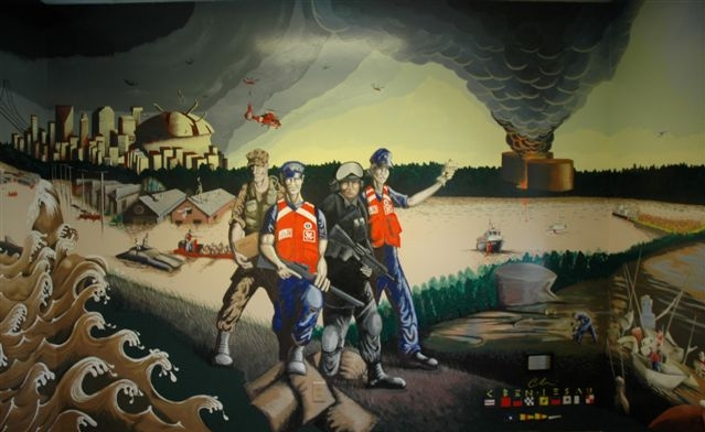 Coast Guard Hurricane Katrina Commemorative Mural by Cheri Ben-Iesau