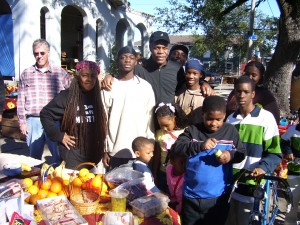 Danny Glover visiting Camp Mama D on Christmas Day 2005 in the N.O. 7th Ward