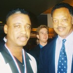 Rev. Jesse Jackson just before keynote speech