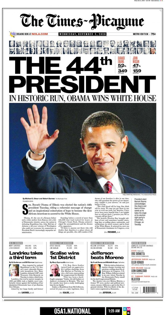 Times-Picayune: November 5, 2008 Edition