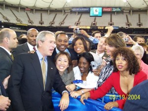 Pres. Bush at Indiana Black Expo on 7.14.05