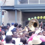 Super Sunday Second Line in Central City in front of Ashe's Cultural Center