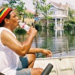 "Soul Patrol leader Rick Mathieu in the 7th Ward on 9.3.05 patrolling for survivors in his boat ""The Searcher"""