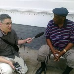 Canadian reporter Justin Hayward interview Treme residents on the oil spill for the CBC