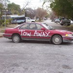 "a ""Katrina car"" in the 7th Ward"
