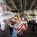 Baby Dolls at the Battle of the Brass Bands 'Under the (I-10) Bridge' in Treme