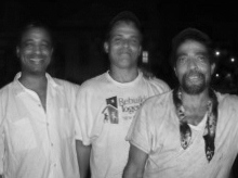 Michael Woods and the Mathieu Brothers, Rick & Manny, on Treme Street