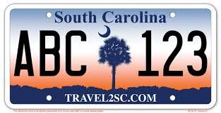 SC license plates